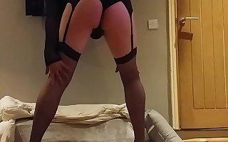 Crossdresser teasing